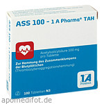 Produktbild: ASS 100 1A Pharma TAH 100 St Tabletten 1A Pharma