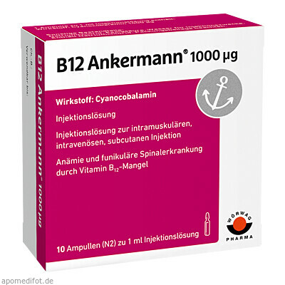 B12 ANKERMANN 1000UG 10X1 ml, Wörwag Pharma GmbH & Co. KG