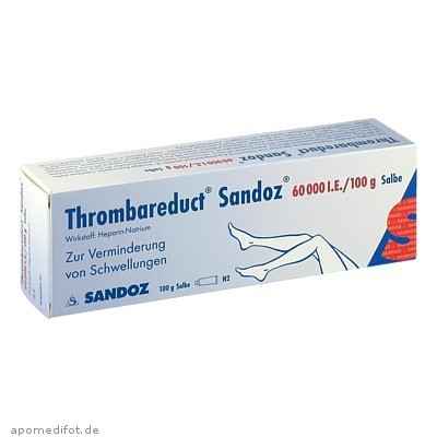 Thrombareduct Sandoz 60 000 I.E. Salbe 100 g, HEXAL AG