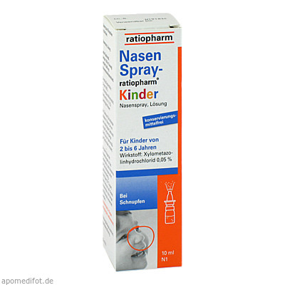 Nasenspray-ratiopharm Kinder 10 ml, ratiopharm GmbH