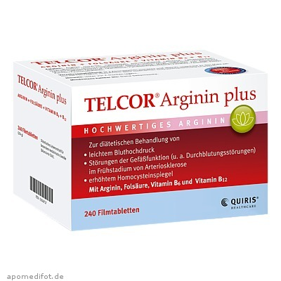 TELCOR Arginin plus 240 St., Quiris Healthcare GmbH & Co. KG