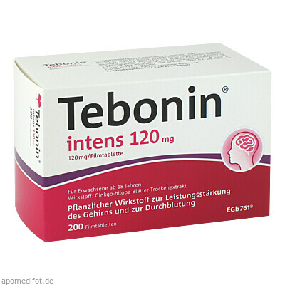 Tebonin intens 120mg 200 St., Dr.Willmar Schwabe GmbH & Co. KG