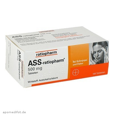 ASS-ratiopharm 500mg 100 St., ratiopharm GmbH