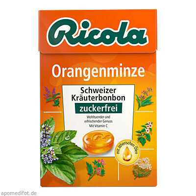 Ricola OZ Box Orangenminze 50 g, Queisser Pharma GmbH & Co. KG