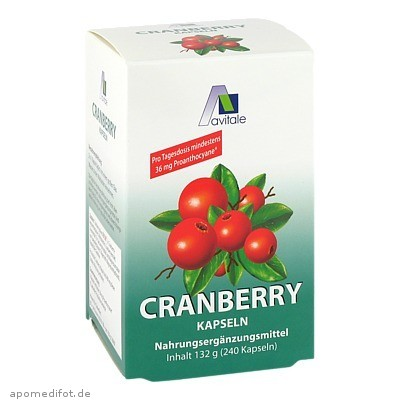 Cranberry Kapseln 400mg Sparpackung 240 St., Avitale GmbH