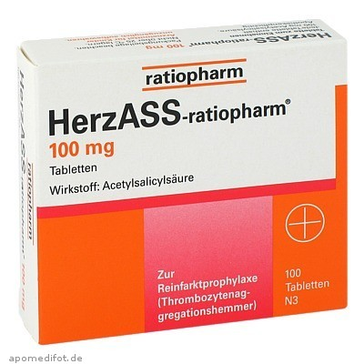 HerzASS-ratiopharm 100 mg 100 St., ratiopharm GmbH