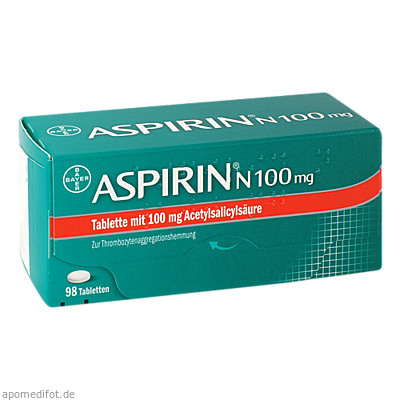 ASPIRIN N 100mg 98 St., Bayer Vital GmbH GB Pharma