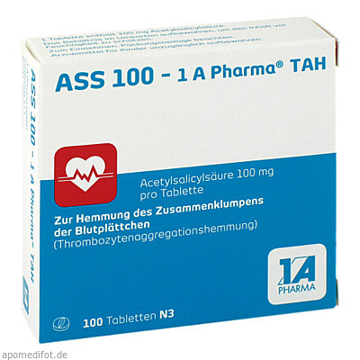 ASS 100 - 1 A Pharma TAH 100 St., 1 A Pharma GmbH