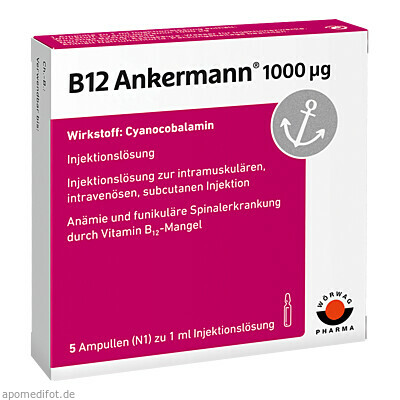B12 ANKERMANN 1000UG 5X1 ml, Wörwag Pharma GmbH & Co. KG