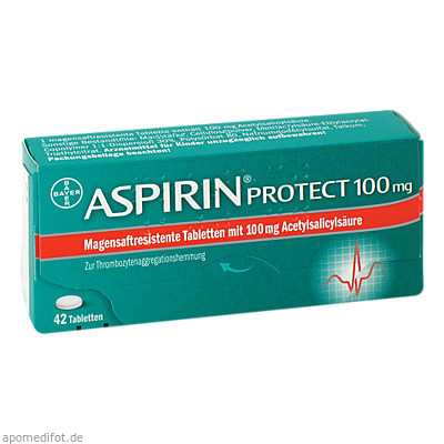 Aspirin protect 100mg 42 St., Bayer Vital GmbH GB Pharma