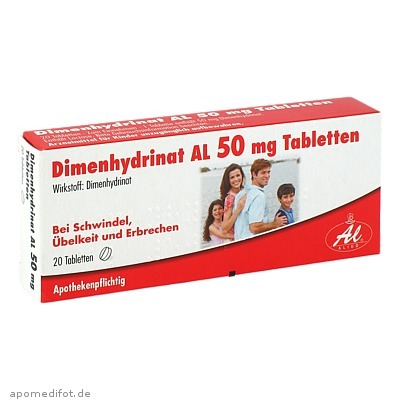 Dimenhydrinat AL 50 mg Tabletten 20 St., Aliud Pharma GmbH