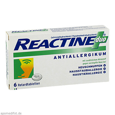 Reactine duo 6 St., Johnson & Johnson GmbH (Otc)