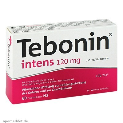 Tebonin intens 120mg 60 St., Dr.Willmar Schwabe GmbH & Co. KG