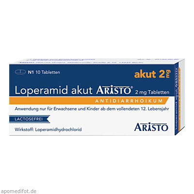 Loperamid akut Aristo 2mg Tabletten 10 St., Aristo Pharma GmbH