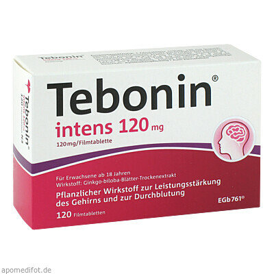 Tebonin intens 120mg 120 St., Dr.Willmar Schwabe GmbH & Co. KG