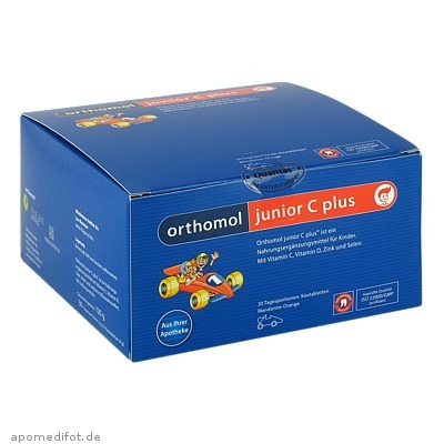 Orthomol Junior C plus Mandarine/Orange 30 St., Orthomol Pharmazeutische Vertriebs GmbH
