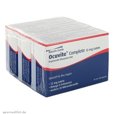 Ocuvite complete 12mg Lutein 180 St., Dr. Gerhard Mann